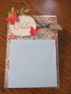 Acrylic Post-It Note Holder by Jennifer Burns