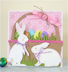 Blankety Blank Hoppy Easter Card Making Bunny