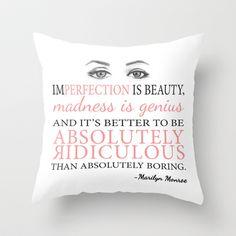 Marilyn Inspiration Throw Pillow