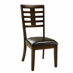 Bella Side Chair [Set of 2] by Standard Furniture. $178.20. Quality veneers over wood products and select solids used throughout.. Brown Polyurethane upholstery.. Surfaces clean easily with a soft cloth.. 16844 Features: -Side chair.-Faux marble travertine tops. Construction: -Veneers and wood construction. Color/Finish: -Deep brown finish.-Seat cushions are vinyl brown color. Assembly Instructions: -Assembly required. Collection: -Bella collection. Warranty: -Manufacturer p...