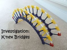 Come up with a structure out of K'NEX that is able to hold the largest amount of weight!