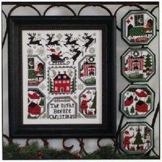 The Night Before Christmas - Sampler + Ornaments - Prairie Schooler New Chart #PrairieSchooler