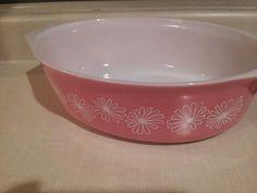 Pink daisy 045 oval casserole