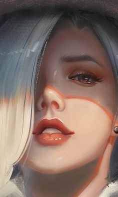 Digital Art Girl, Digital Portrait, Portrait Art, Evvi Art, Anime Wallpaper Live, Laptop Wallpaper, Overwatch Wallpapers, Overwatch Fan Art, Fantasy Art Women