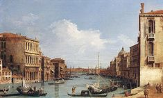 Giovanni Antonio Canal, il Canaletto - The Grand Canal from Campo San Vio towards the Bacino, 1729