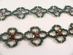 Four Leaf Clover Bracelet Pattern, Beading Tutorial in PDF. $4.00, via Etsy.