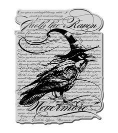 The Stampendous Halloween Cling Rubber Stamp is perfect for creating festive-themed accent pieces. This rubber stamp is delicately trimmed for producing accurate impressions on smooth or textured surf