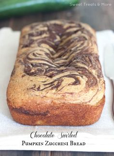 Chocolate Swirled Pumpkin Zucchini Bread
