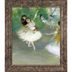 La Pastiche Edgar Degas 'Dancers, 1878' Hand Painted Framed Oil Reproduction on Canvas