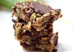 Healthy Breakfast Snacks, Granola Bars, Healthy Baking, Raw Food Recipes, Afternoon Tea, Bakery, Sweet Treats, Food And Drink, Tasty