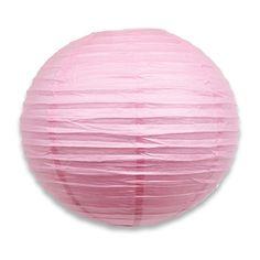 16  Large Light Pink Paper Lantern  5 pack by PartySparklePop
