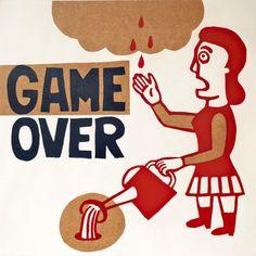 game over fin del juego por ARTeFAKTshop en Etsy