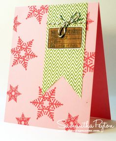 Scrapmaster's Paradise: Pink Snowflakes Card
