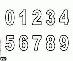 Colorear Los números del 0 al 9