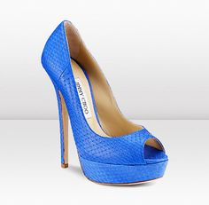 Vibe       These exotic platform peep-toe's in gorgeous matt elaphe will brighten up any evening outfit.