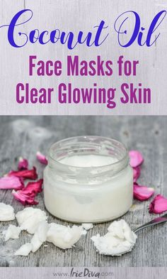 Coconut oil face masks for acne, dark spots and uneven skin tone. Clear your face and reveal youthful glowing skin with these DIY beauty recipes all made with coconut oil. #coconutoil #facemask #diybeauty