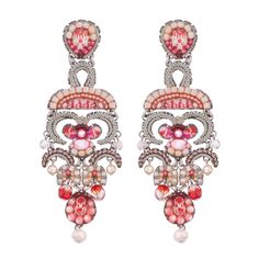 Ayala Bar Gogi Pearls Cherry Blossom Earrings, part of our full line of Ayala Bar jewelry and the Ayala Bar Spring 2020 collection. Ayala Bar, Artist Card, Bar Gifts, Bar Earrings, Cherry Blossom, Pearls, Spring, Jewelry, Jewlery