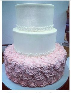 Pink And White Wedding Cake Mazzettisbakery Mazzettis Bakery Pacifica