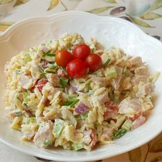 """Orzo Ham Salad 