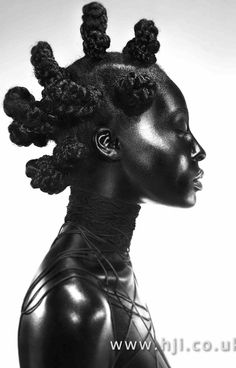 Charlotte Mensah Wins BIG With Afro Futuristic Hair Collection at British Hairdressing Awards - Blackhair Magazine Futuristic Hair, Futuristic Outfits, Black Hair Salons, Hair Reference, Afro Punk, Natural Hair Inspiration, Afro Hairstyles, Hairdos, Wedding Hairstyles