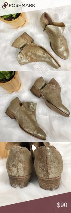 Seychelles Pewter Metallic Soft Leather Bootie Seychelles Pewter Metallic Soft Leather Ankle Booties // Size 7 // New without box, never worn. Seychelles Shoes Ankle Boots & Booties