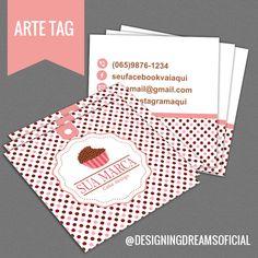 Combo de Identidade Visual para Brigaderia/Doceria Chocolate Stars, Cake Shop, Business Cards, Tags, Bakery, Logo Design, Greeting Cards, Packaging, Creative
