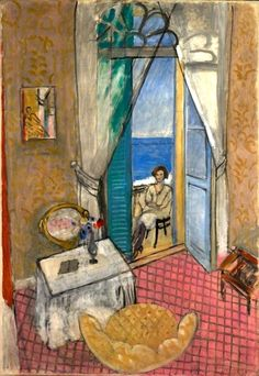 Interior at Nice. Henri-Émile-Benoît Matisse (1869 - 1954) was a French artist, known for his use of colour and his fluid and original draughtsmanship. He was a draughtsman, printmaker, and sculptor, but is known primarily as a painter.