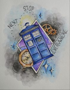 Next Stop Everywhere by Lady Gabe - #DoctorWho #TARDIS #doctorwho #timelord #art #painting