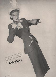 Spring 1947 Fashion from The William H. Block Co. Indianapolis