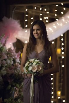 """Vampire Diaries -- """"I'll Wed You in The Golden Summertime"""" -- Image Number: VD621b_0450.jpg -- Pictured: Nina Dobrev as Elena -- Photo: Bob Mahoney/The CW -- © 2015 The CW Network, LLC. All rights reserved.pn"""