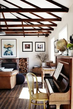 A Curated Lifestyle - styling on top of piano
