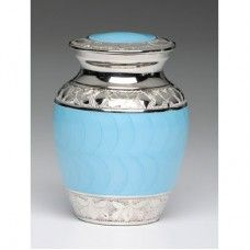 Blue and Silver Pet Urn