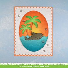 the Lawn Fawn blog: Lawn Fawn Intro: Palm Trees, Duh-nuh + Ocean Wave Accents