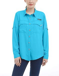 Amazon.com : Little Donkey Andy Women's UPF 50+ UV Protection Shirt, Long Sleeve Fishing Shirt, Breathable and Fast Dry Dark Red XS : Clothing Fishing Shirts, Shirt Dress, Donkey, Long Sleeve, Hiking Outfits, Mens Tops, Blue, Long Hours, Clothes