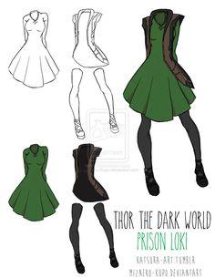 Prison Loki (Thor The Dark World) by MizNeko-Kupo on deviantART. I really like this! *thinks cosplay thoughts*