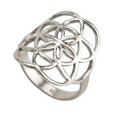 Classic Seed of Life Ring Sterling Silver 925 Sacred Geometry Flower Of Life #MAGAYA #SacredGeometry