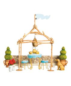 Look at this Mini Garden Tea Party Décor Set on #zulily today!