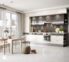 Piękna zabudowa kuchenna pod sam sufit - zdjęcie od forestor sylwia