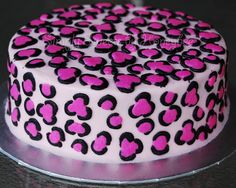 Pink leopard cake and a link to teach you how