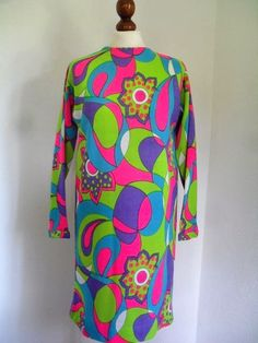 Color Fun . Iconic Acid Neon Print From 60s by thingsofsplendor