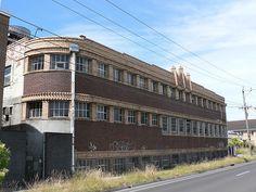 Old Factory, Art Deco - Cross Street, West Footscray. Now transformed into apartments. Melbourne Victoria, Victoria Australia, Melbourne Architecture, Architecture Design, Western Australia, Australia Travel, Melbourne Suburbs, The 'burbs, Shop Buildings