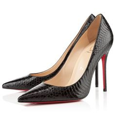31f6d268f8 coupon code for christian louboutin decollete 554 100mm pumps black  watersnake 4f826 526cb