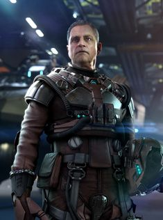 This is a UEE Naval Pilot Suit I made for Star Citizen. The head is actor Mark Hamill, and the head scan was done by the awesome team at 3Lateral. I did the concept for the helmet and modeling and texturing for the suit, as well as the game rez. Rob McKinnon and Jeremiah Lee worked on the suit concept. Paul Jones art directed and did the photoshop jazz. Hannes Appell did the in-engine (CryEngine) work and framing. It turned out to be the cover for GameStar and PC Gamer.