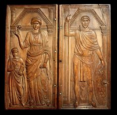 Stilicho diptych Evidence of appearance of Roman soldiers