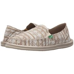 Sanuk Donna Tribal Women's Slip on Shoes ($55) ❤ liked on Polyvore  featuring shoes