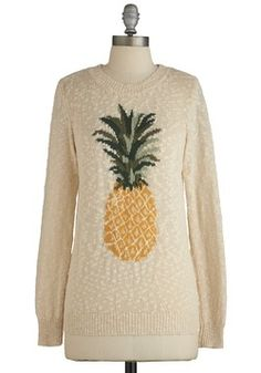 Pineapples weather for warm but cool day