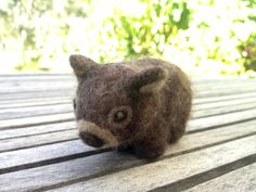 Needle felted Wombat made with love, for Sylvia. With instruction from #zuzu&me #steiner #waldorf