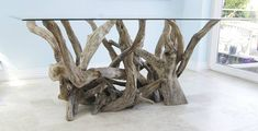 rectangular driftwood dining table by karen miller @ devon driftwood designs | notonthehighstreet.com