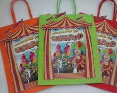 Sacolinha Personalizada Madagascar Circo