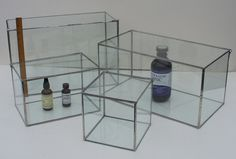 Four Glass Display Cases - Display Boxes - Custom Orders Welcome